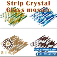 Strip Crystal Glass Mosaic Tiles