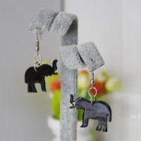Earrings Made From Cow Horn