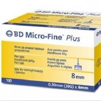 Bd Microfine 30g 8mm 100 Insulin Pen Needles