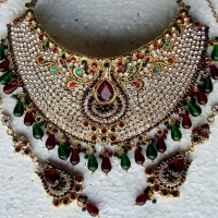 Indian Bridal Jewelry Necklace Earrings