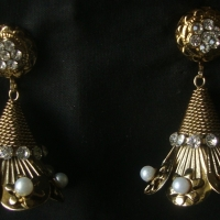 Indian Jhumka Earrings, Dangle Earrings