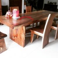 Suar Wood Dining Table Set