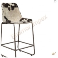 Bar Chair With Iron Frame