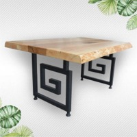Natural and Live Edge Solid Wood Slab Table