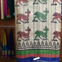 Sarees Made Of Raw Tussar With Block Print