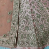 Raw Silk Lehngas For Women With Embroidery