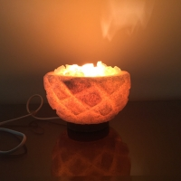 Pineapple Bowl Salt Lamp