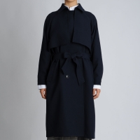 Gun Flap Detail Trench Coat
