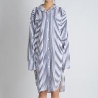 Cut Out Stripe Long Shirt