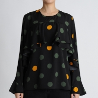 Dot Ruffle Blouse