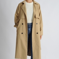 Gun Flap Long Trench Coat