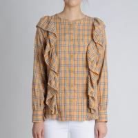 Frill Detail Check Shirts