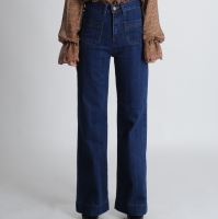Front Pocket Denim Pants