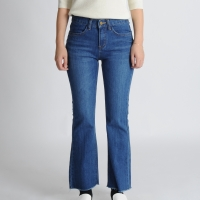 Fitted Boot Cut Denim Pants