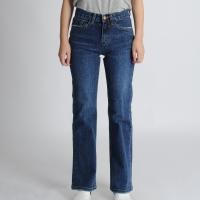 Straight Deep Blue Jeans