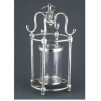 Glass Lantern With Aluminium