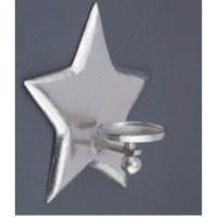 Star Wall Pillar Holder With Glass