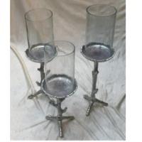 Pillar Holder With Glass