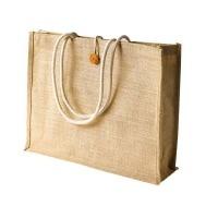 Cotton Rope Handle Jute Tote Bag