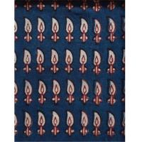 Indigo Woodblock Printing Fabric