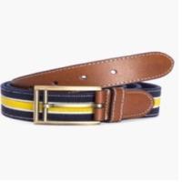 Navy Tan Double Tone Belt