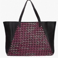 Hand Painted Woven Tote