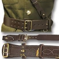 Leather Army Cross Belt