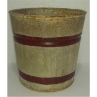 Planter Zinc Antique With Red Circles