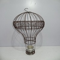 Wire Work Hot Baloom Candle