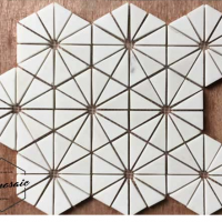 Ivory Hexagon Natural Stone Mosaic