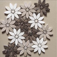 Interior Tiles Stone Mosaic Flower Tiles