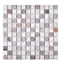 Engineered Stone Mosaic Tile in Beige
