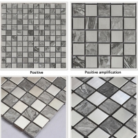 Gray Stone Mosaic Mixed Stainless Steel