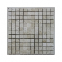 Silk Filled Polished Travertine Mosaic