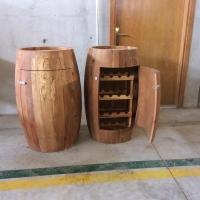 title='Oak Barrel Cupboard & Cabinet'