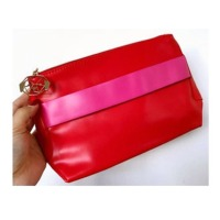 Smooth Leather Beautiful Women Cosmetic Bag