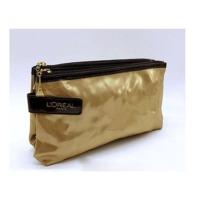 Metallic Golden Promotional Toiletry Bag