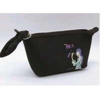 Black Canvas Travel Toiletry Bag