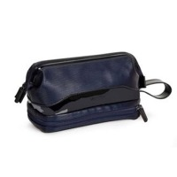 Multil Compartment Mens Leather Travel Bag