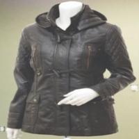 Women Fashion Leather Long Coat
