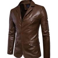 Men's Leather Causal Coat