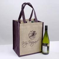 6 Bottle Jute Bag