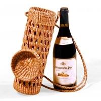 Jute Net Wine Bottle Bag