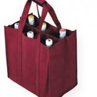 6 Bottle Jute Wine Bag
