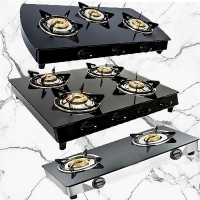 Glass Top Gas Stoves - 2 / 3 / 4 Burners