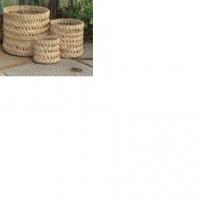 Banana Fiber Cylindrical Storage Baskets