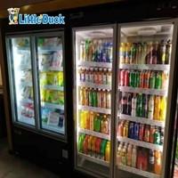 E8 New York Supermarket Glass Door Refrigerator