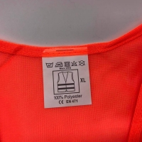 100% Polyester 60gsm Mesh Fabric Safety Vest