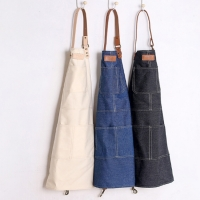 Cotton Kitchen Apron With Pockets