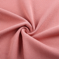 Polyester Spandex Crepe Knitted Fabric